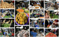 Overvolle marktkramen in Gaza