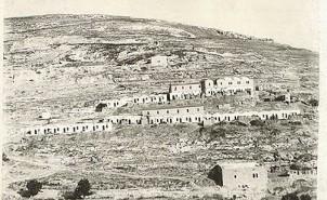 Blik op Oost-Jeruzalem, 1891. Alleen wat huizen van Joden, in 1948 etnisch gezuiverd door de Arabische legers.
