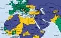 Klik op het plaatje. Groene kleur: vrij; gele kleur: gedeeltelijk vrij en paarse kleur: Niet vrij. Het groene stipje in het Midden-Oosten is Israël.