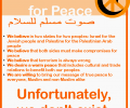 Muslim voice for peace
