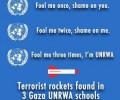 Raketten gevonden in drie VN-scholen