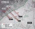 Gaza tunnel map