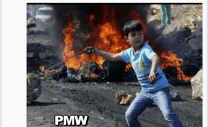 Fatah child twitter rock throwing