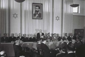 Israel roept de onafhankelijkheid uit.