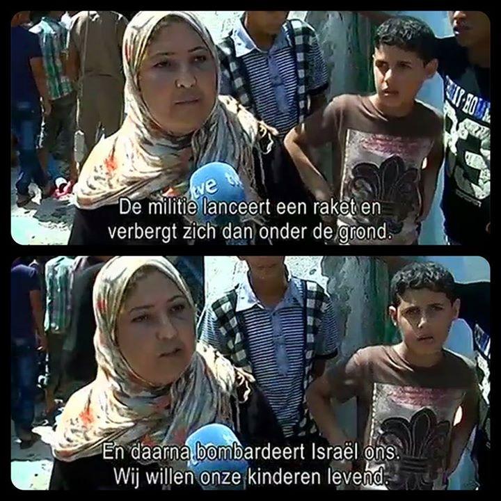 Screenshot uit de uitzending van het Belgische 'Terzake' van 31 juli 2014