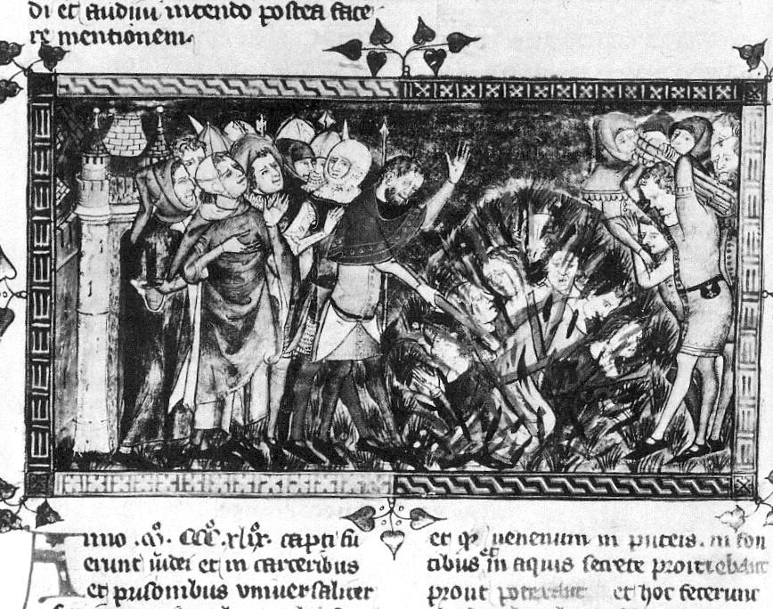 De verbranding van Joden in 1349