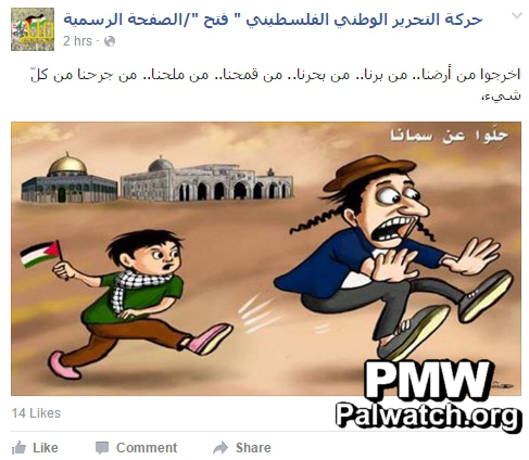 Fatah facebook temple mount