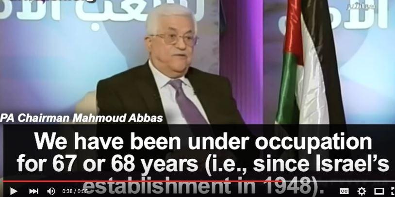 Abbas bestaansrecht Israel