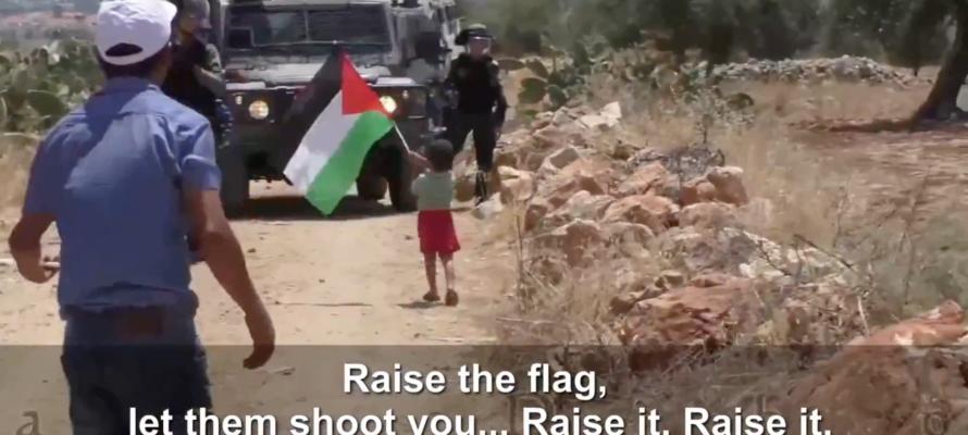 Palestinian child flag