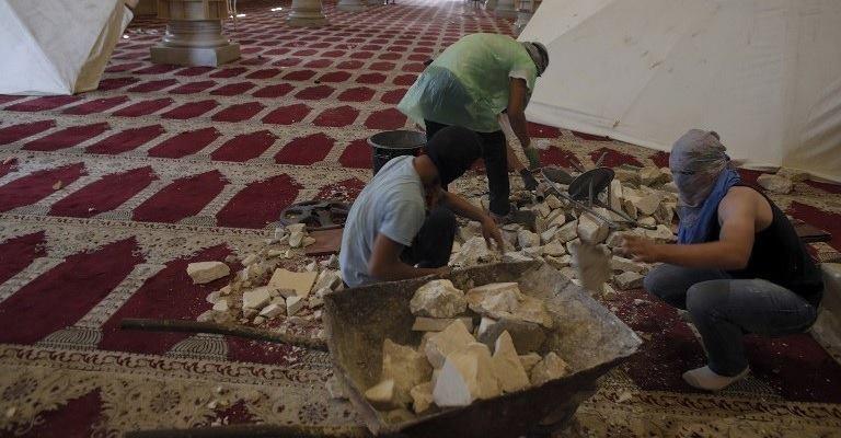Jeruzalem stenen moskee tempelberg